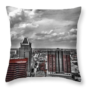Downtown Baltimore City Throw Pillow