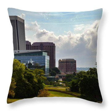 Downtown Beauty Throw Pillow