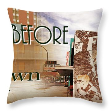 Downtown Before And Downtown After Throw Pillow