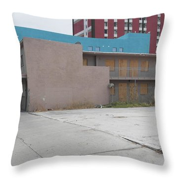 Downtown Before Throw Pillow