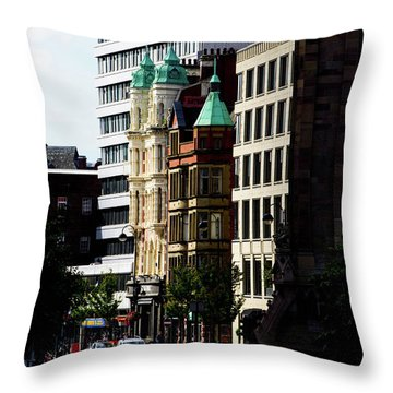 Downtown Belfast Throw Pillow