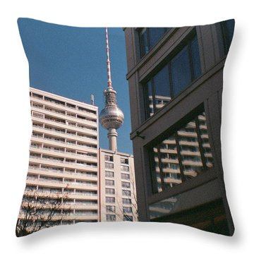 Downtown Berlin Throw Pillow