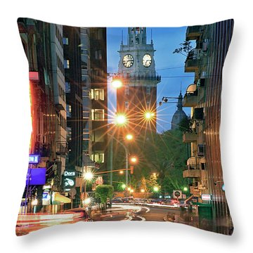 Throw Pillow featuring the photograph Downtown by Bernardo Galmarini