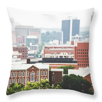 Throw Pillow featuring the photograph Downtown Birmingham - The Magic City by Shelby Young