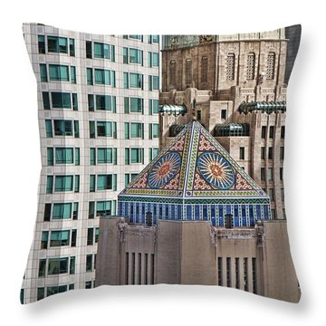 Throw Pillow featuring the photograph Downtown Blend by Kim Wilson