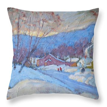 Downtown Cheshire 2016 Throw Pillow