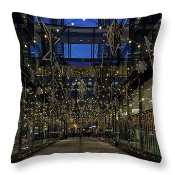 Downtown Christmas Decorations - Washington Throw Pillow