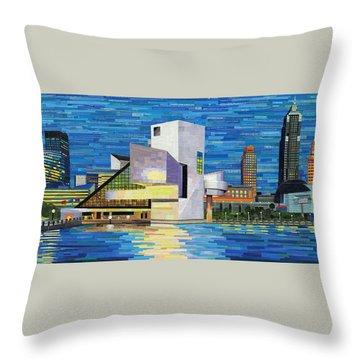 Downtown Cleveland Skyline  Throw Pillow