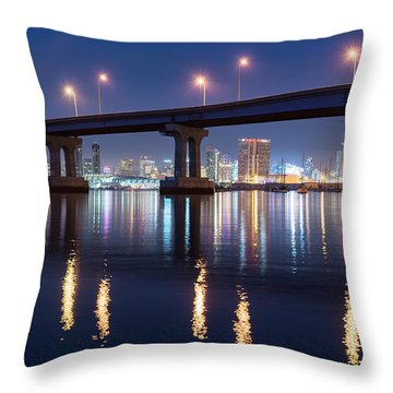 Throw Pillow featuring the photograph Downtown by Dan McGeorge
