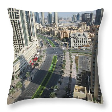Throw Pillow featuring the photograph Downtown Dubai by Marie Neder