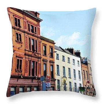 Downtown Dublin Throw Pillow