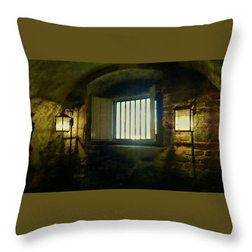 Downtown Dungeon Throw Pillow