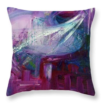Downtown Early Morning Throw Pillow