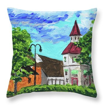 Michigan Frankenmuth Throw Pillows