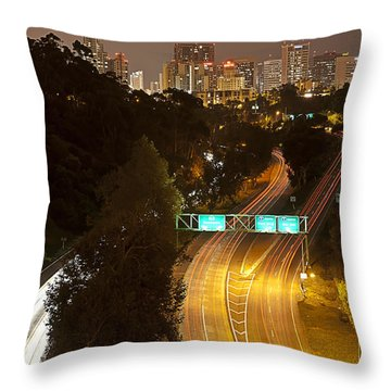 Downtown From El Prado Throw Pillow
