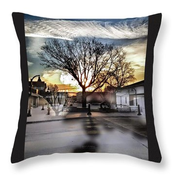 Downtown Hdr Atchison Throw Pillow by Dustin Soph