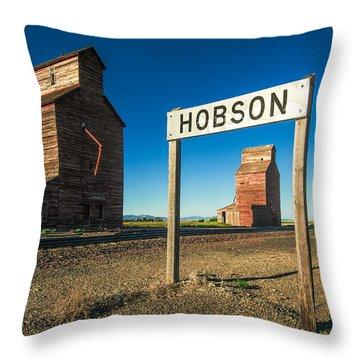 Downtown Hobson, Montana Throw Pillow
