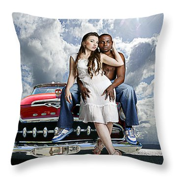 Throw Pillow featuring the photograph Downtown by Jeff Burgess