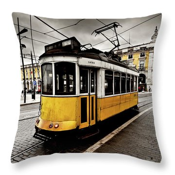 Downtown Throw Pillow by Jorge Maia