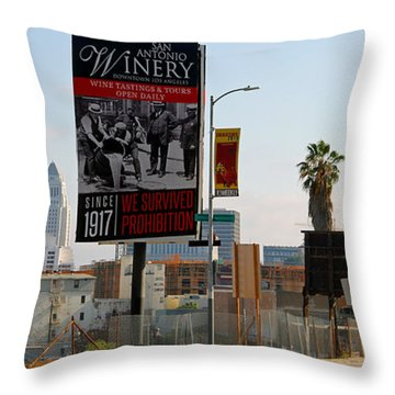 @downtown Los Angeles Throw Pillow