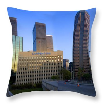 Downtown Los Angeles Skyline Throw Pillow by Wernher Krutein