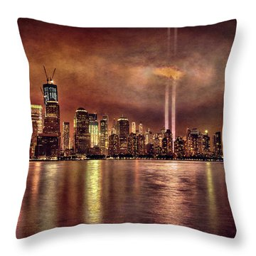 Downtown Manhattan September Eleventh Throw Pillow by Chris Lord