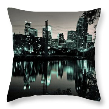 Downtown Minneapolis At Night II Throw Pillow