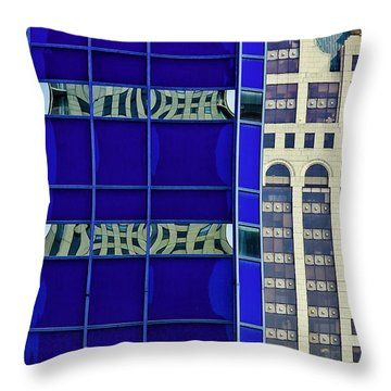 Downtown Mke Throw Pillow