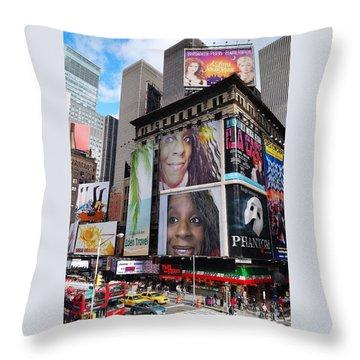 Downtown New York Throw Pillow