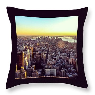 Downtown Or Lower Manhattan Throw Pillow