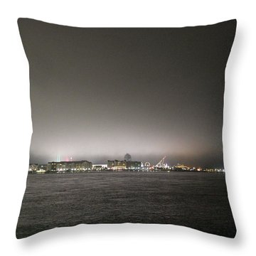 Downtown Oc Skyline Throw Pillow