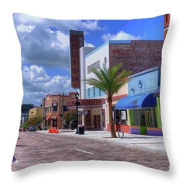 Downtown Ocala Theatre Throw Pillow