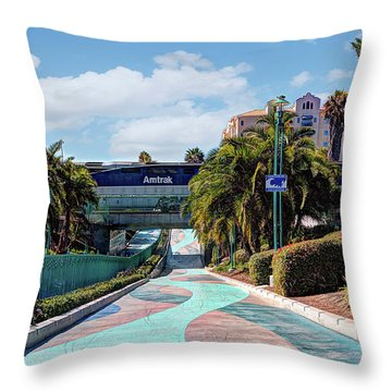 Downtown Oceanside Throw Pillow by Ann Patterson
