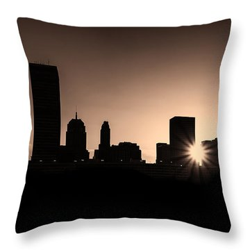 Throw Pillow featuring the photograph Downtown Oklahoma City by Betty LaRue