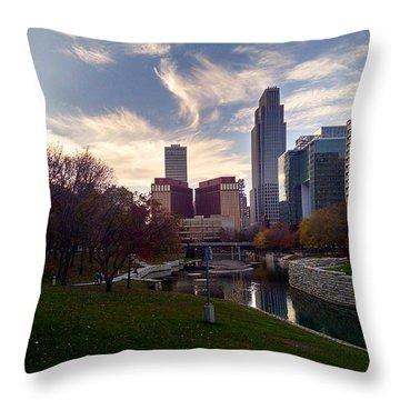 Downtown Omaha Throw Pillow
