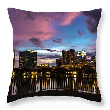 Downtown Orlando Throw Pillow