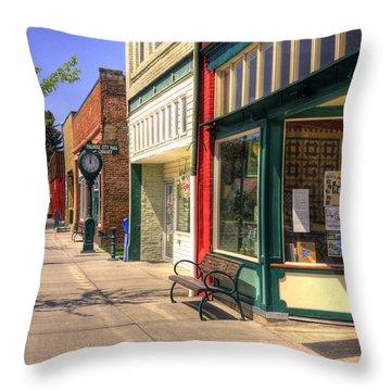 Downtown Palouse Washington Throw Pillow