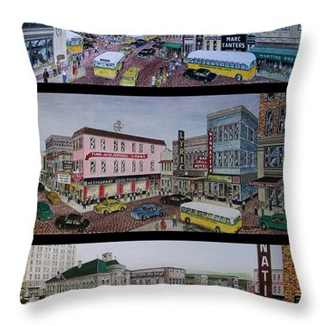 Downtown Portsmouth 1948 Throw Pillow