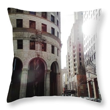 Downtown Providence Throw Pillow