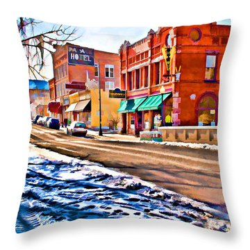 Downtown Salida Hotels Throw Pillow