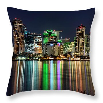 Throw Pillow featuring the photograph Downtown San Diego by Eddie Yerkish