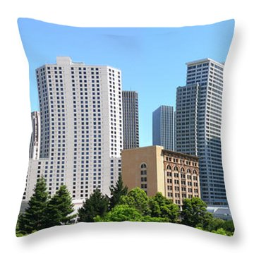 Throw Pillow featuring the photograph Downtown San Fransisco by Mike McGlothlen