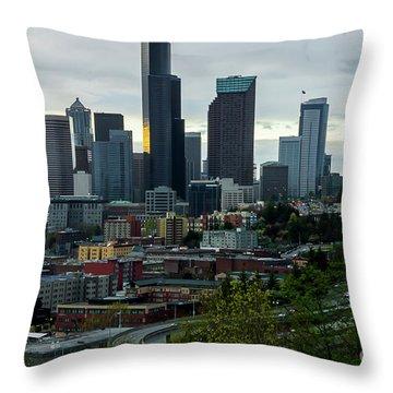 Downtown Seattle,washington Throw Pillow