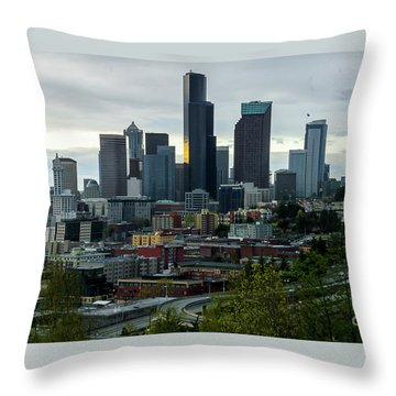 Downtown Seattle,washington Throw Pillow