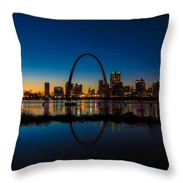Downtown St. Louis And The Gateway Arch Throw Pillow
