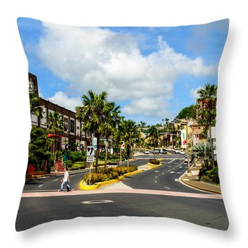 Downtown Tamuning Guam Throw Pillow