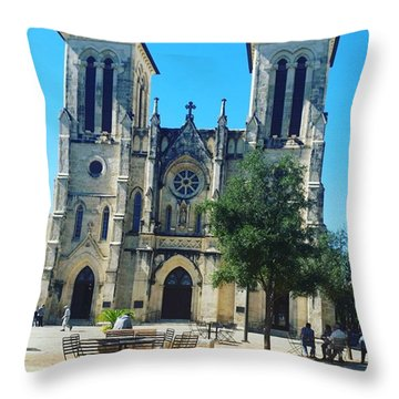 Cathedral Of San Fernando Throw Pillow