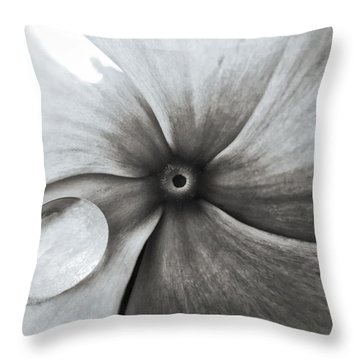 Downward Spiral Throw Pillow