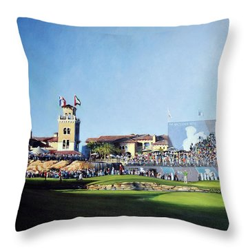 Dp World Tour Championship 2015 - Open Edition Throw Pillow by Mark Robinson