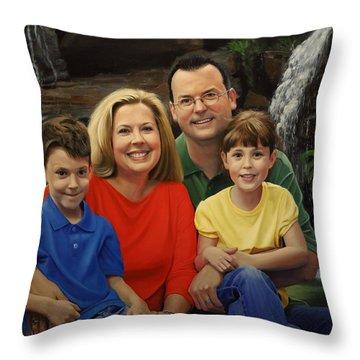 Dr. Devon Ballard And Family Throw Pillow